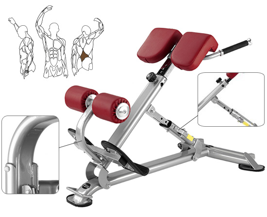 Banc abdominaux BH Hi Power TR Series inclined Bench