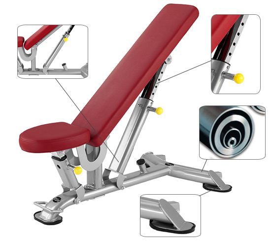 Banc abdominaux BH Hipower TR Series Multi position bench L825
