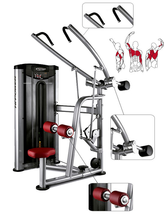 Banc BH Fitness Hipower Lat Pulley