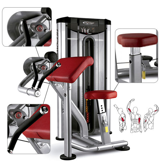 Banc BH Fitness Hipower LK Line Biceps Curl