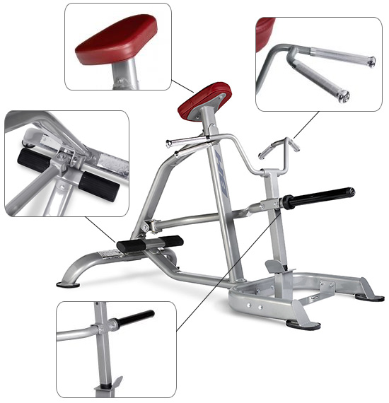 Banc BH Fitness Hipower T Bar Row   biceps dorsaux