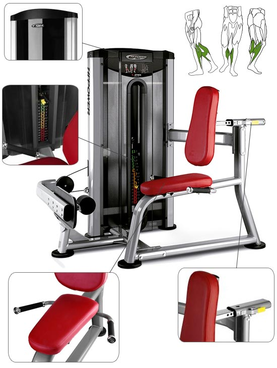 Banc BH Fitness Hipower LK Line Seated Calf   travail des mollets
