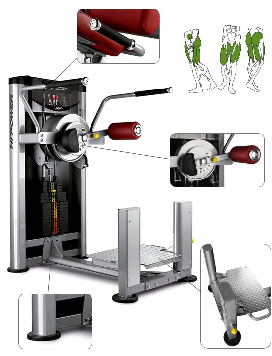 Banc de musculation BH Hipower LK Line Total Hip Adduction