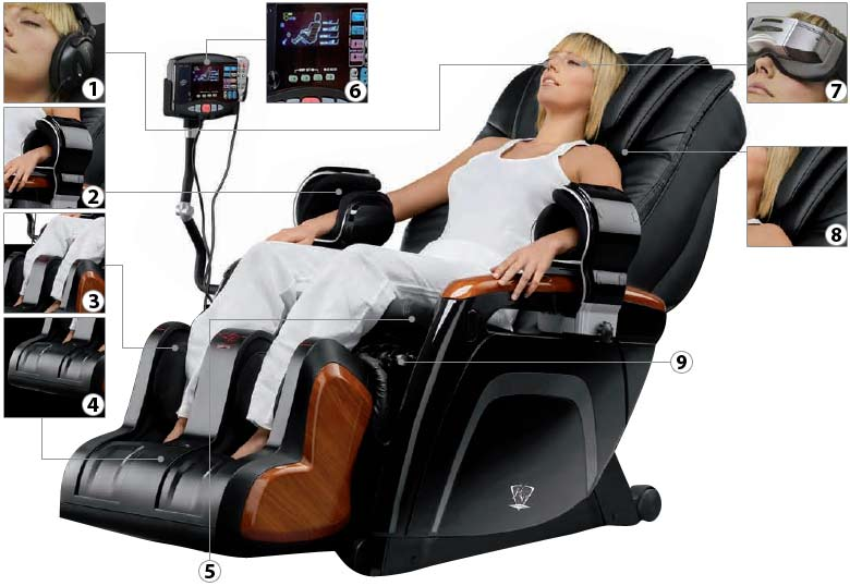 Description du fauteuil de masse BH Shiatsu M1000