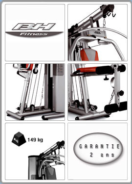 Fonctions du banc de musculation BH Fitness Nevada plus