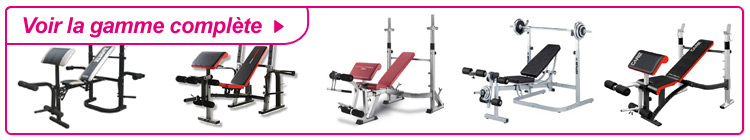 Gamme complète banc musculation charge libre