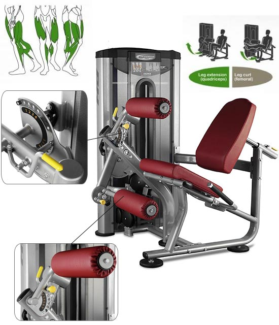 Appareil musculation BH Hipower Leg Extension / Leg curl