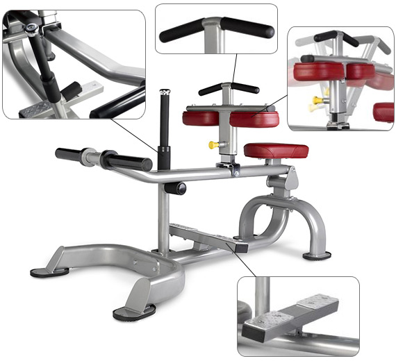Appareil musculation BH Hipower Seated Cald LD215