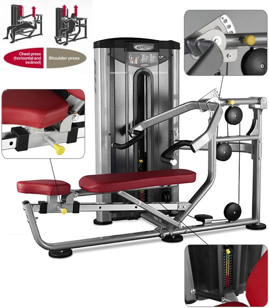 Appareil musculation BH Hipower Shoulder Chest Press