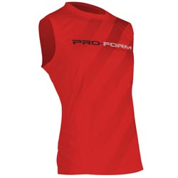 T-Shirt Rouge sans manches Performance PRO FORM